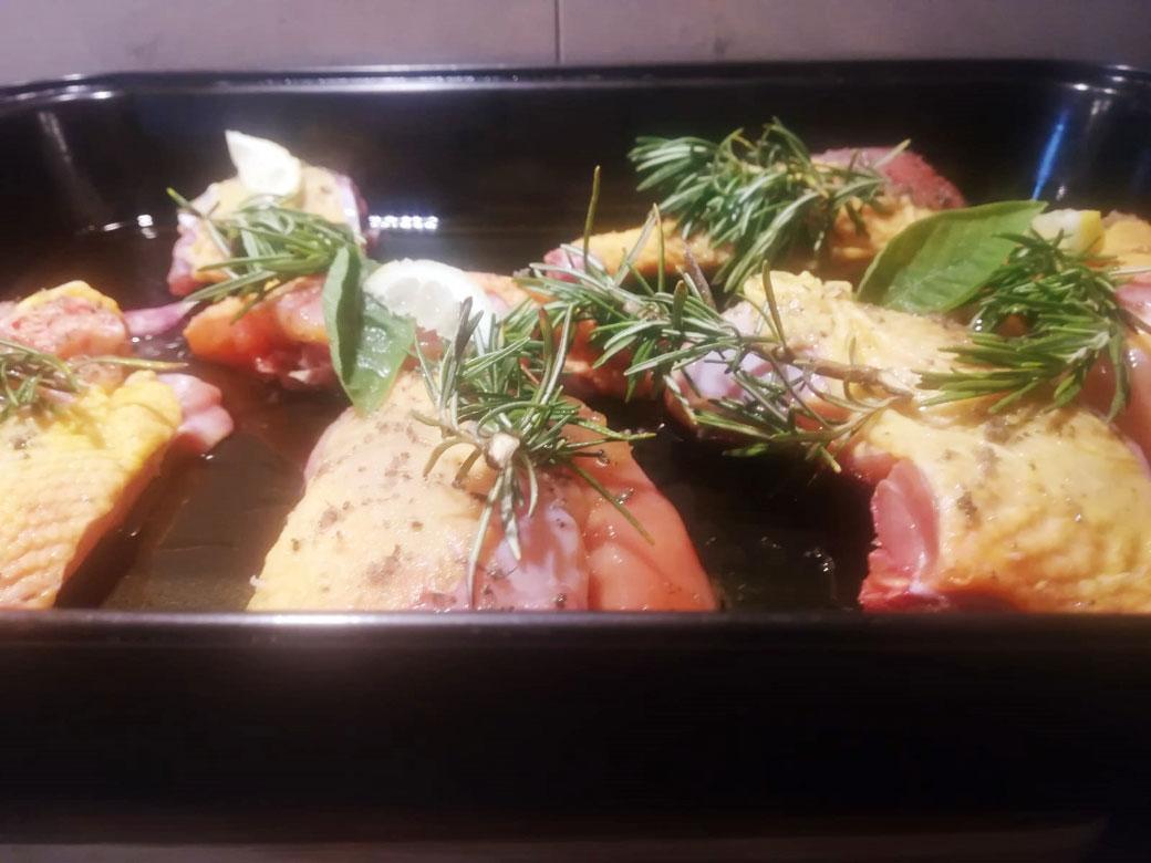 Pollo nostrale cotto in forno a porzioni