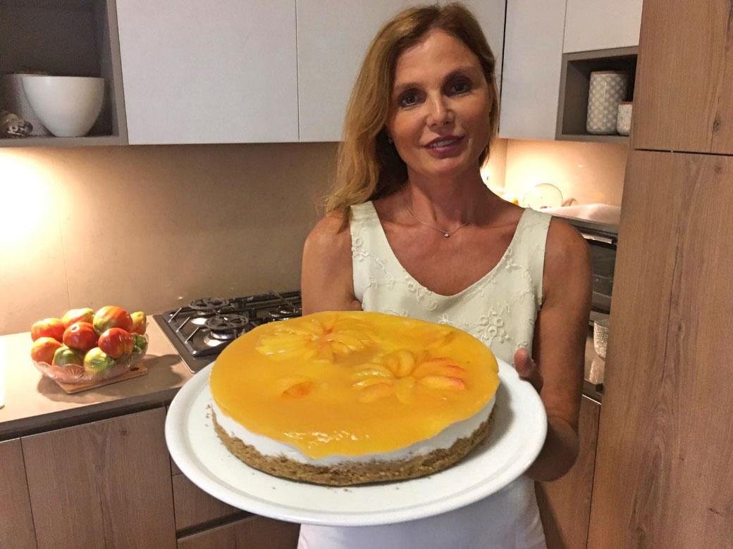 Cheesecake alle pesche della Monica