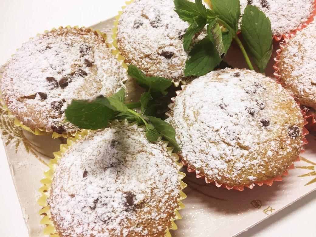 Muffin alla menta della Monica