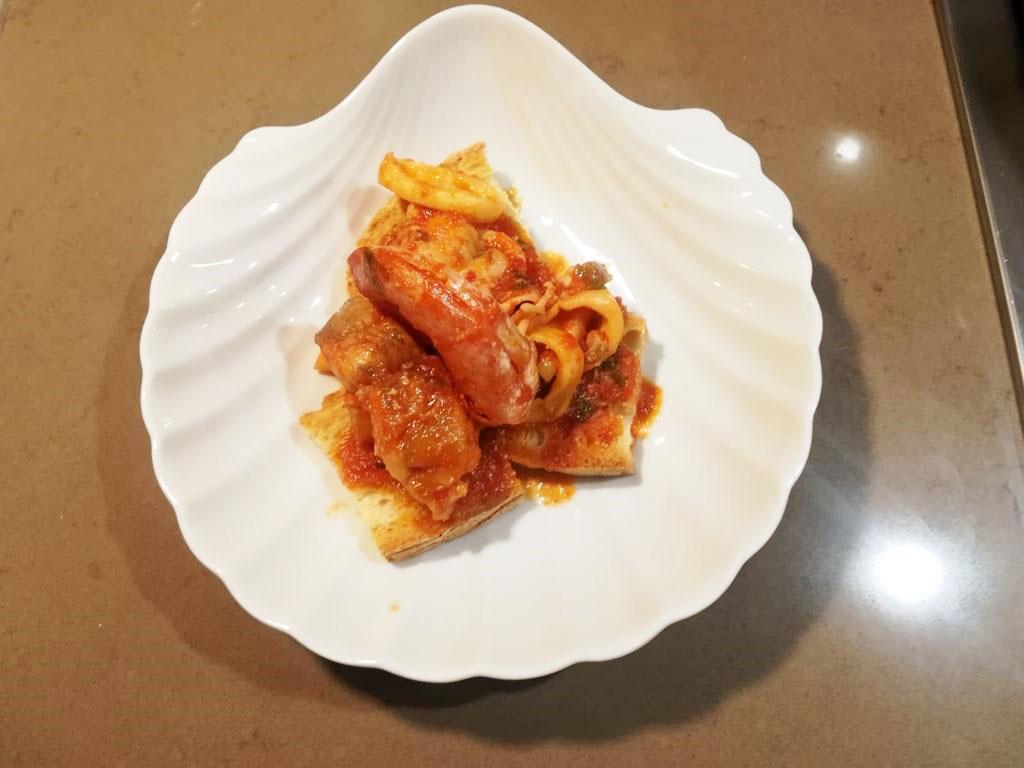 Zuppa di pesce fresco della Monica