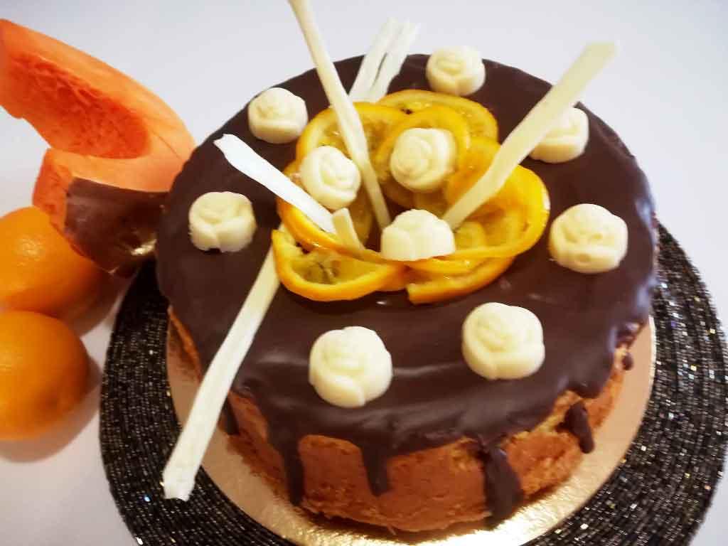 Chiffon cake alla zucca e arancia della Monica