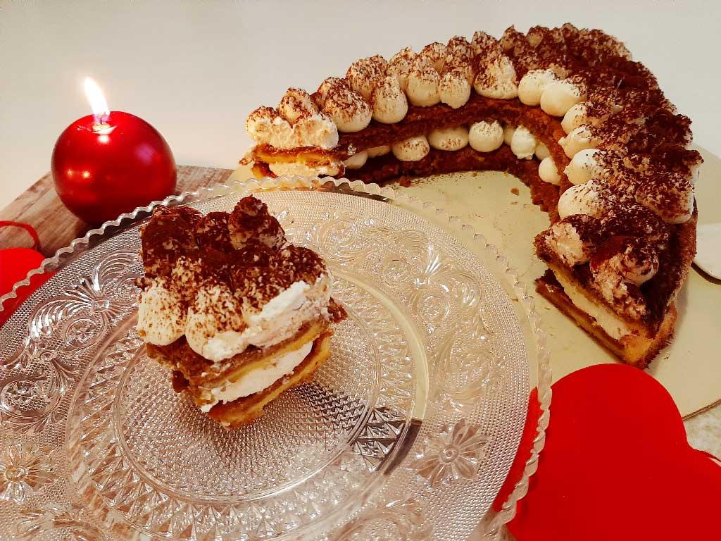 Cream tart morbida di San Valentino