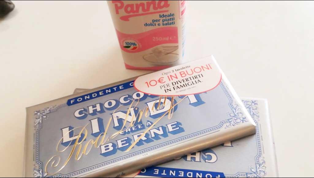 Ganache al cioccolato della Monica