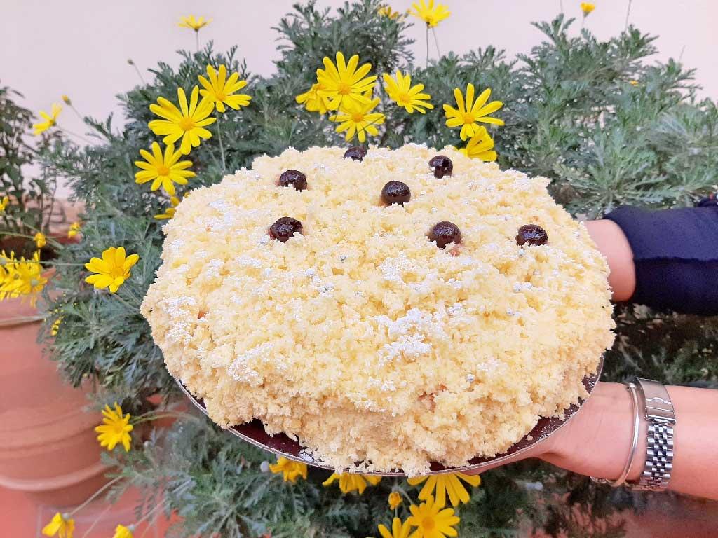 Torta Mimosa con amarene