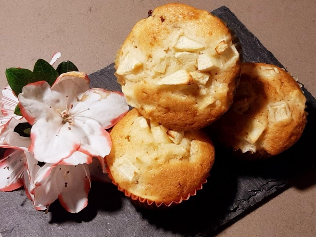 Muffin alle mele con marmellata della Monica