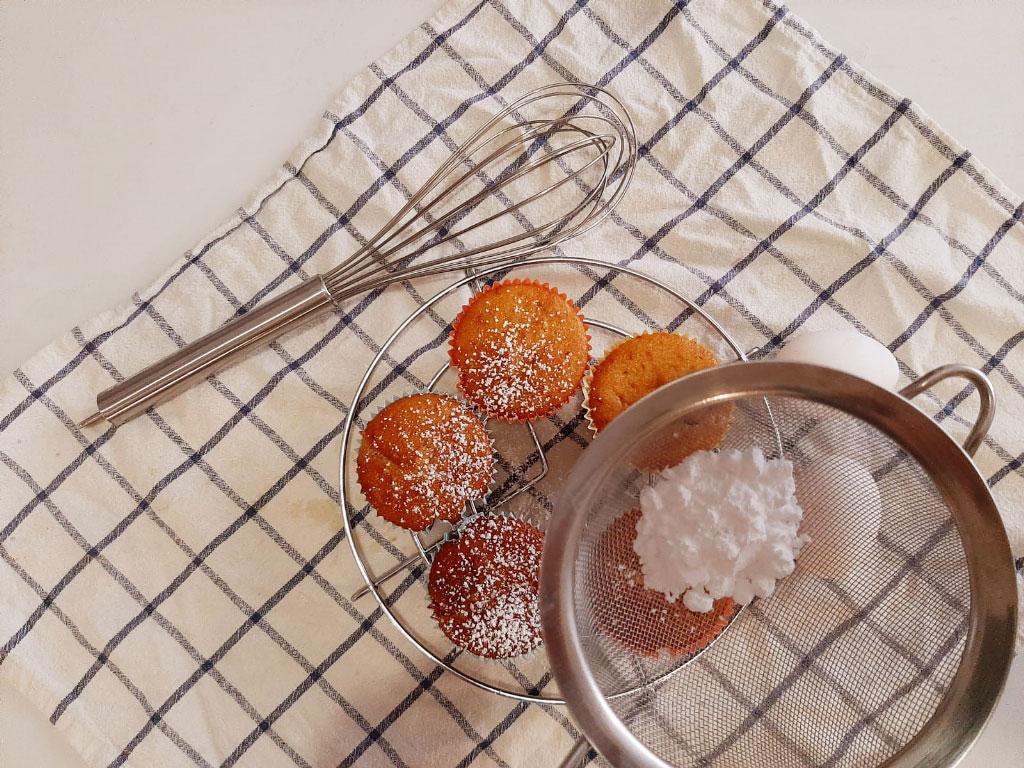 Muffin con fragole fresche della Monica
