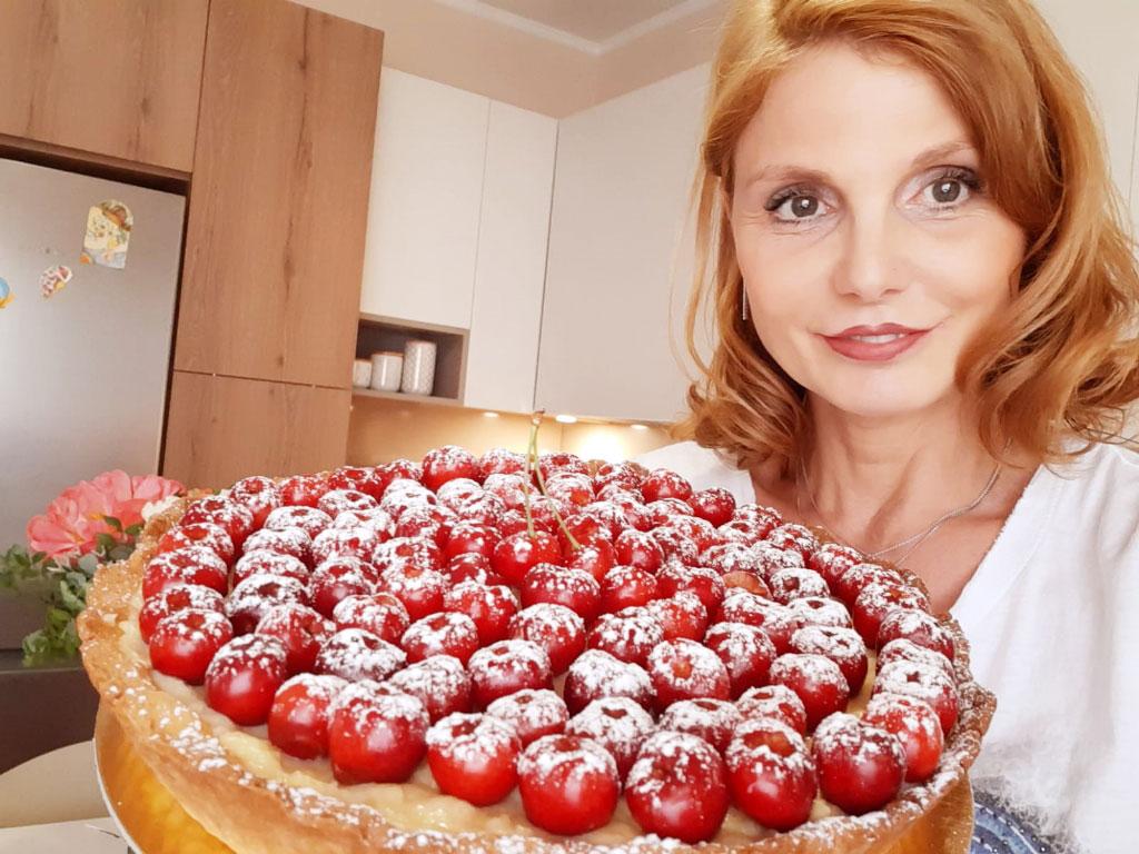 Crostata con ciliegie della Monica