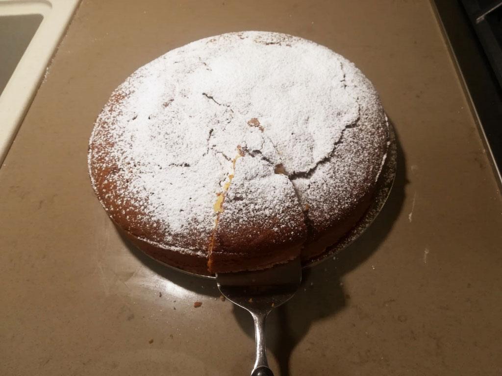 Torta fiocco di neve della Monica