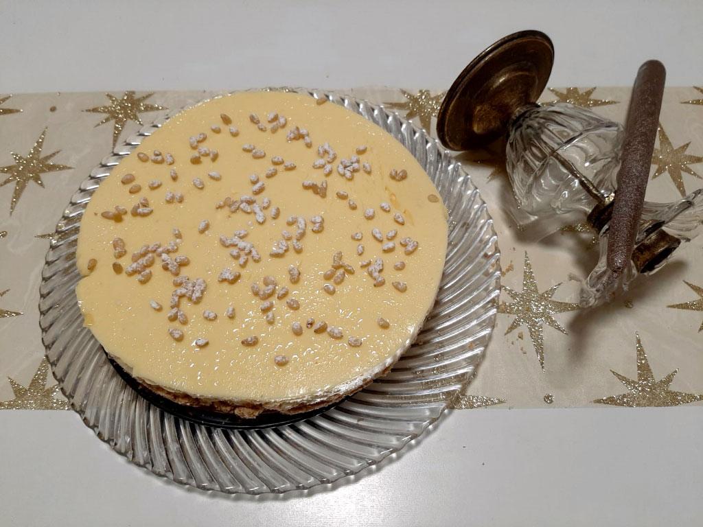 Cheesecake  della nonna con cialde di Montecatini