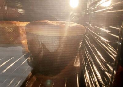 in forno a cuocere