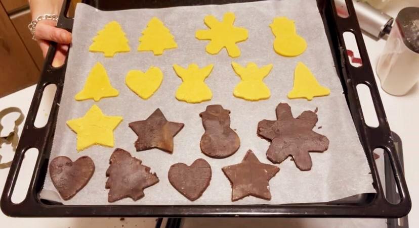 Biscotti  natalizi black & white della Monica