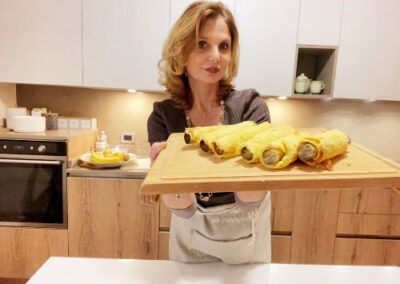 Cuoceteli in forno preriscaldato modalità ventilata a 180° per 8 minuti circa