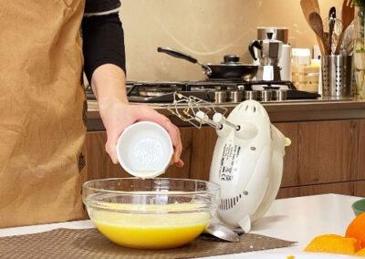 Aggiungete il succo di arancia