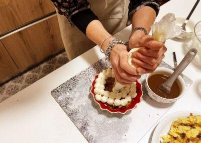 Termino con ciuffetti di crema al mascarpone