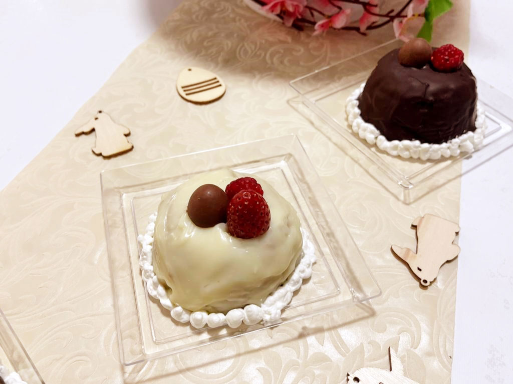 Zuccottini di colomba ripieni di gelato artigianale della Monica
