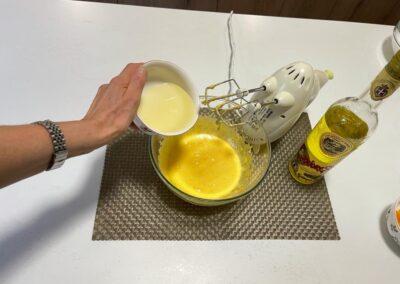 Aggiungete l'olio di semi di girasole