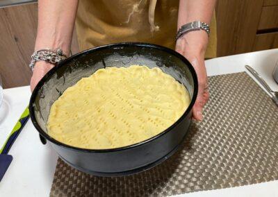 Infornate la base per 10 minuti a 180 gradi forno preriscaldato