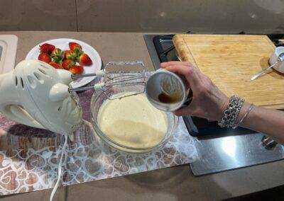 Aggiungete l'estratto di vaniglia