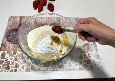 Un cucchiaino di estratto di vaniglia