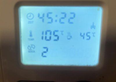 Cuocete a 103 gradi velocità 2 per circa 45-50 minuti