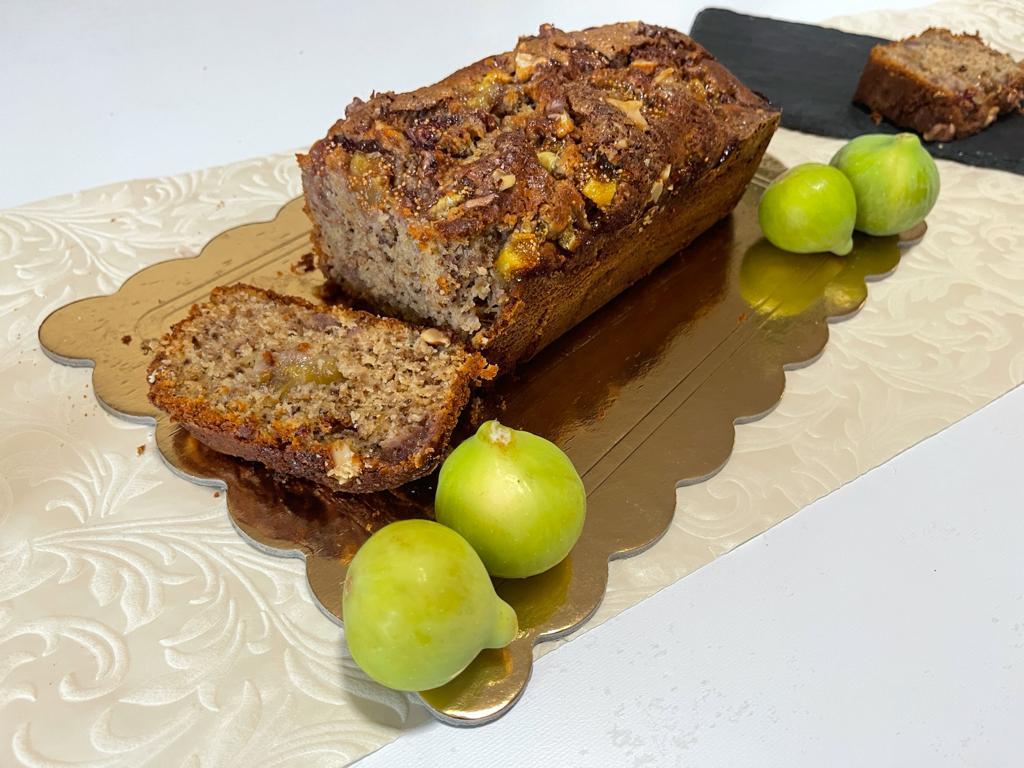 Plumcake con marmellata e fichi della Monica